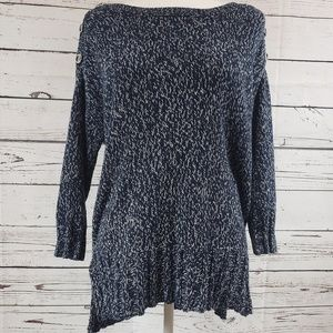 Blue Knit style Lucky Brand Sweater with Buttons